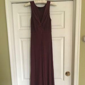 J.crew Tie-knot top Maxi Dress in plum